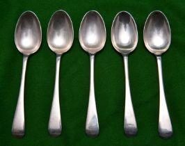 12x silver teaspoons. Hallmarked Sheffield 1899, 'WG&S'. Combined 295g. VGC. £70-100