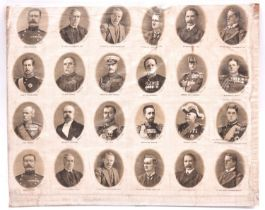 Four uncut sheets of coloured printed silk cigarette pictures: national coats-of-arms (two sets,