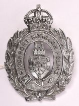 A pre 1952 Stockport Borough Police chrome plated helmet plate. GC £45-50