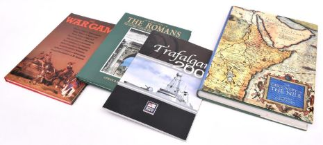 A very large quantity of military and historical books, subjects include wars, uniforms, toy