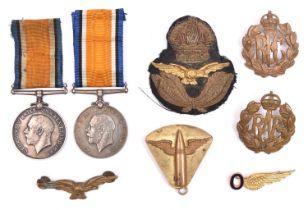 2 1914-18 British War Medals (to E.C. Shipley, AM1 RNAS, and 2AM W G Langer, RAF); an early RAF