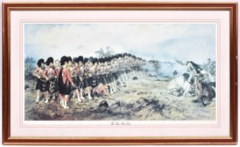 """5 coloured military prints: """"The Thin Red Line"""" by Gibb,36½"""" x 22""""; """"The British Army"""" by Orlando"""
