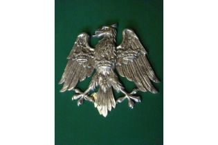 A polished cast aluminium heraldic spread eagle, with 3 crowns on its breast and wings, as used by