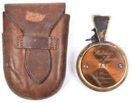 "An officer's private purchase ""Weldon"" prismatic pocket range finder, by ""J H Steward, 406"
