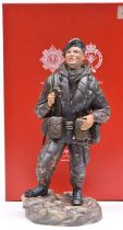 An Ashmor hand painted Fine Bone China figure representing a Falklands War soldier of the 2nd Bn The