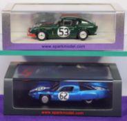 2 Spark 1:43 Racing Cars. Triumph Spitfire No. 53 Le Mans 1965, drivers B.Bradley and P.Bolton. Plus