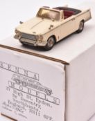 Kenna Models Triumph Vitesse. A Limited Edition 44/600. An example in cream with maroon interior, '