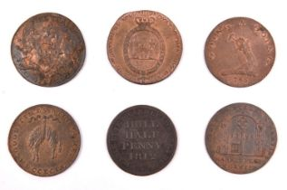 British AE halfpenny tokens: Norfolk-Norwich 1794, Norwich castle, rev. Good Times will come, with