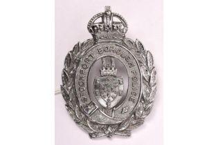 A pre 1952 Stockport Borough Police chrome plated helmet plate. GC £20-40