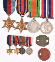 Four: 1939-45 star, Burma star, Defence, War (un-named as issued) with miniatures, VF-EF, with 2 I.