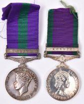 GSM 1918, George VI, 1 clasp Malaya (4007677 L.A.C. C Hunt, RAF), GVF, GSM 1918 1 clasp Borneo (