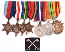 Seven: 1939-45 star, F&G star, Pacific star, Burma star, Defence, War, Dunkirk 1940 commemorative