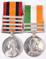 Pair: QSA, 4 clasps, CC, OFS, Trans, L Nek, ghost dates just visible (engraved 1970 Pte W Lythall,
