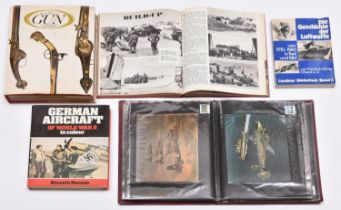 """A small quantity of military and weapon books, including """"German Aircraft of World War 2"""" by Munson;"""