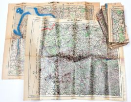 25 War Office maps covering the Allied advance from the D-Day landings in Normandy to Berlin,