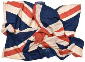 """A large Boer War period Union Flag, 138"""" x 70"""", the hoist stamped with broad arrow, """"Lane & Neeve, 4"""