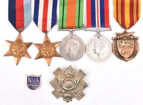 Four:1939-45 star, F&G star, Defence, War (un-named as issued), GVF, with a Dunkirk medal (issued