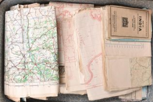 A large quantity of WWII maps and charts, produced for the War Department and Air Ministry, mostly