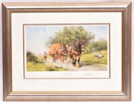 2x David Shepherd signed prints. Both well framed and mounted. 'The Last Load of Summer' with
