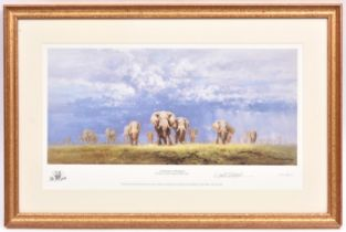 3x David Shepherd signed prints of elephants. All well framed and mounted. 'A Celebration of
