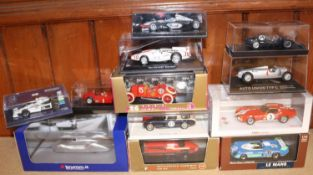 12 Various Makes Competition Cars. Including Hot Wheels 'Red Pack' 1949 Ferrari 125 F1. RN 8.