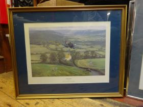7x Framed prints of military aircraft. All well mounted and framed with some signed as limited