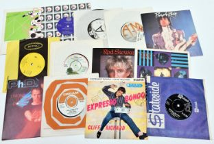 """150+ 7"""" vinyl singles of mainly 1960s/70s/80s mainstream rock and pop including; The Righteous"""