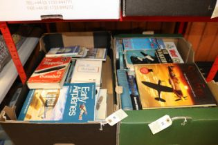 Approx 60x Railway and Aircraft related books. Including hard back and paperback books with