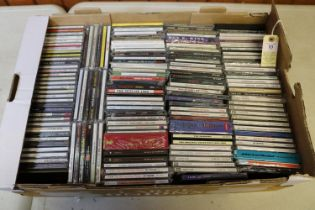 Approx 300 CDs of mainstream rock and pop music from the 1960s to 2000s. Artists include; Cliff