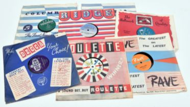 """24x 78rpm 10"""" early Rock singles. All in original record label sleeves. 3x Cliff Richard & The"""