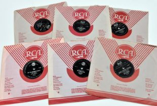 """12x Elvis Presley 78rpm 10"""" singles. All RCA South African issues in RCA covers. Lover Doll/New"""