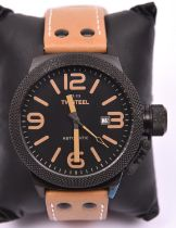 A T.W. Steel Automatic TWA 202 watch with automatic self winding mechanism. With stainless steel