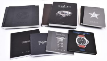 11x watch catalogues, etc. 6x Panerai; Legendary Watches, 2009, 2010, 2011, 2013 and 2014/15. 5x