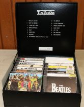 A Beatles 15 album CD box set. Limited edition set produced in 1988 by HMV with tray below