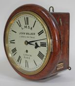 """A John Walker, London Midland Scottish Railway clock, the 8"""" dial with Roman Numerals and signed L."""