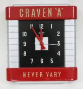 A Smiths Sectric Craven 'A' Never Vary wall clock, 33cm x 36.5cm.