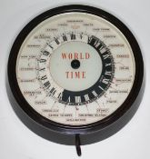 A Smiths Sectric World Time bakelite wall clock, total diam. 29cm.
