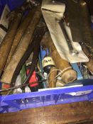 A crate of tools Live bidding available via our website, if you require P&P please read important