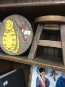 Two childrens stools Live bidding available via our website, if you require P&P please read