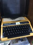 A Silver Reed Silverette portable typewriter Live bidding available via our website, if you