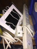 A Technika digital photo frame and a 6 gang multi-plug extension lead. Live bidding available via