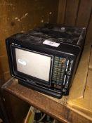 """A Samsung 5"""" portable TV / radio - no power lead."""
