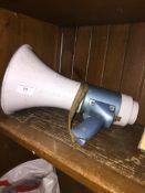 A megaphone.