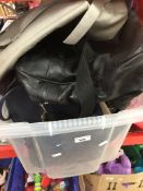 A box of bags, holdalls, etc.