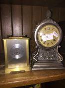 Brass clock and Juliana clock