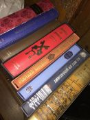 6 Folio Society books and 2 others.
