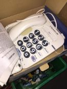 A big button telephone.
