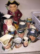 Various toby jugs