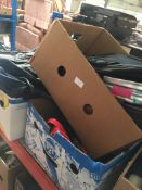 3 boxes of shopping bags, holdalls, etc