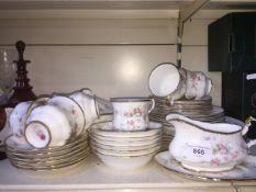 Paragon Victoriana Rose china with Royal Albert tuteen and gravy boat